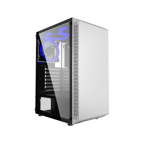 GEMBIRD Fornax 3000 computer case bíláUSB3.0 3x blue fans