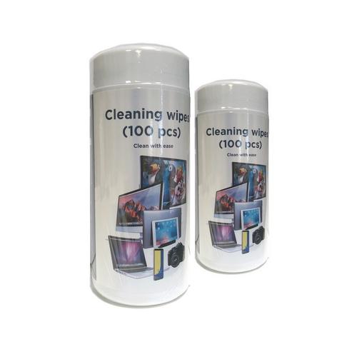 Gembird hadříky pro čištění TFT/LCD/ obrazovek (100ks), Mikrovlákno