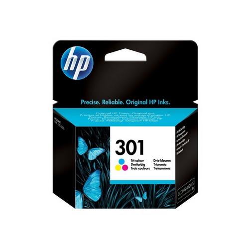 HP 301 – Barva (azurová, purpurová, žlutá) – originální – blistr