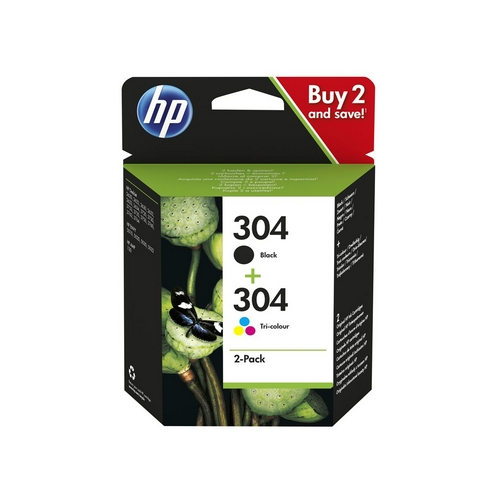 HP 304 Combo Pack 2balení černá, barva originál