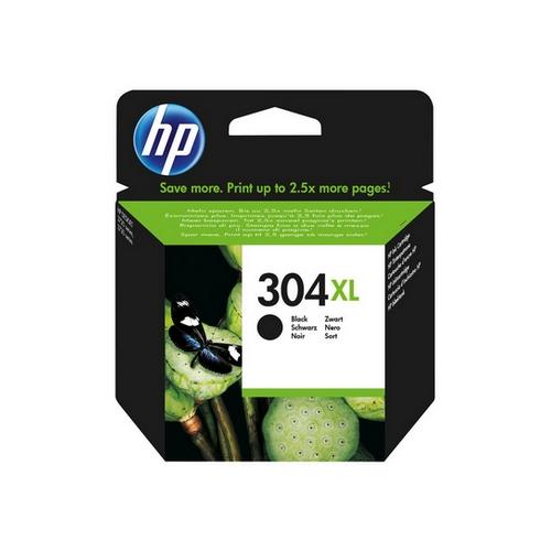 HP 304XL Black Ink Cartridge, Vysoká výtěžnost, originál
