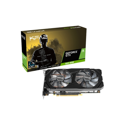 KFA2 GeForce GTX 1660 SUPER 1-Click OC, 6GB GDDR6, DUAL