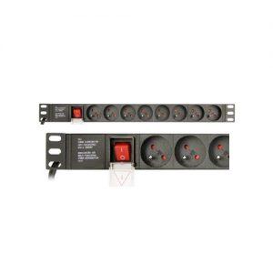 GEMBIRD Power distribution unit PDU 8 French sockets 1U 16A
