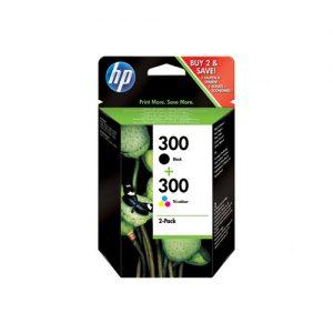 Sestava HP 300 černá + tříbarevná Combo Pack D2560/F4280