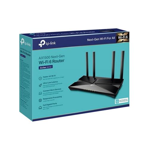 TP-LINK Archer AX10 AX1500 Wi-Fi 6 Router 1.5GHz Tri-Core CPU