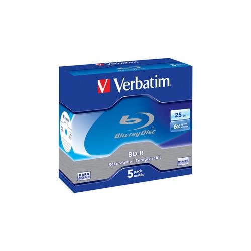 Verbatim Blu-ray BD-R jewel case 5 25GB 6x Scratchguard Plus