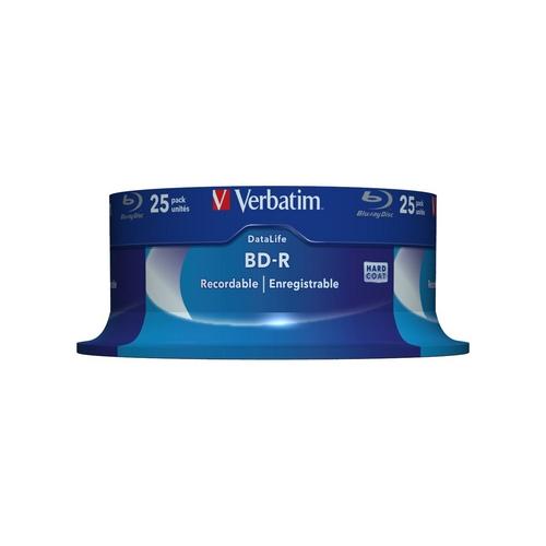 VERBATIM Blu-ray BD-R DataLifeSpindle 25 25GB 6x WHITE BLUE