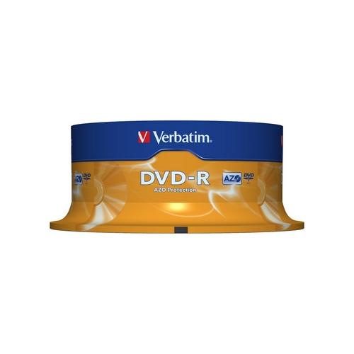VERBATIM 43522 DVD-R cakebox 25 4.7GB 16x matte silver