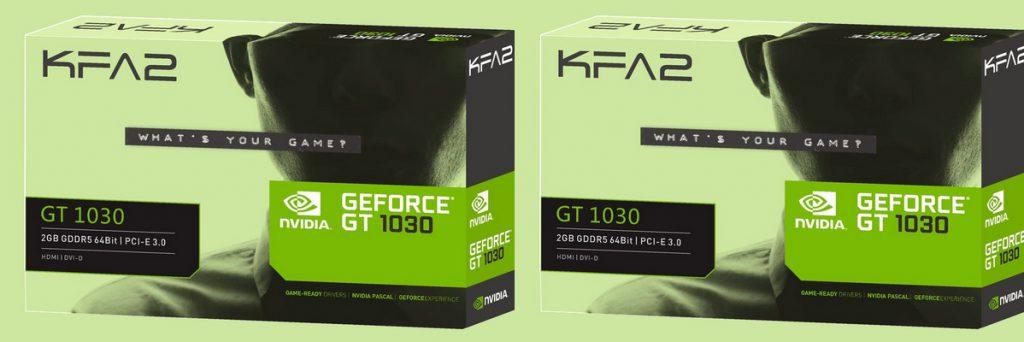 KFA2 GT 1030 2GB GDDR5 SINGLE FAN HDMI DVI-D